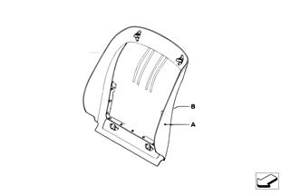 Ind. achterwand Basisstoel / Sportstoel