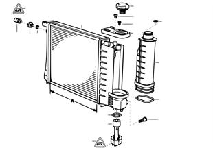 Vodní chladič-vyrovnávací nádoba