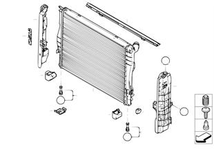 Vodní chladič-upevňovací díly