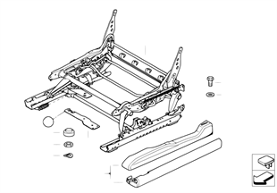 Front seat rail mechanical/single parts