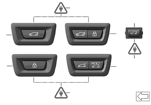 Switch for trunklid and Centerlock