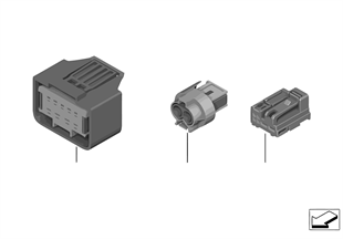 Socket housing MQS