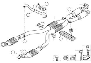 Katalyzátor/přední tlumič výfuku