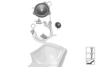 Einzelteile Top-Hifi-System C-Säule
