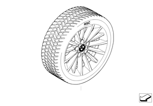 Winter complete wheel, Multi Spoke 284