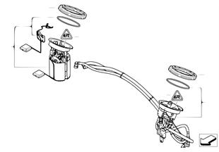 Filtre à carburant/pompe/capteur niveau