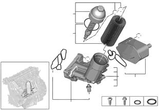 供油-機油濾清器,熱交換器