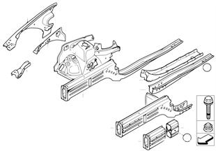 Pasa-rueads/soporto del motor