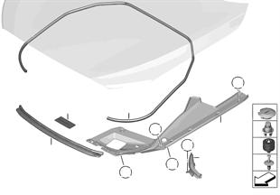 Cofano anteriore guarnizioni