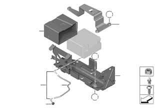 蓄電池固定件和安裝件