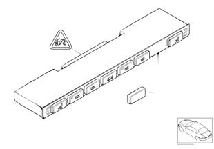 Блок переключателей в центр.консоли