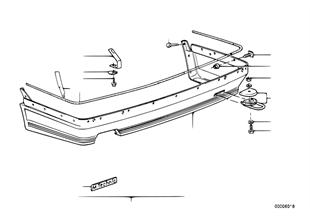 Arka tampon alt spoyleri, M Technic