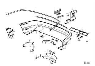 Revestimento do pára-choques traseiro