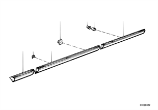 Stootstrip-zijpaneel/portier/afdekking