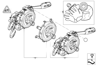 Switch unit steering column