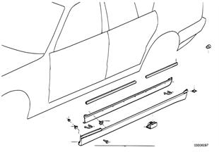 Накладка M порог / арка колеса