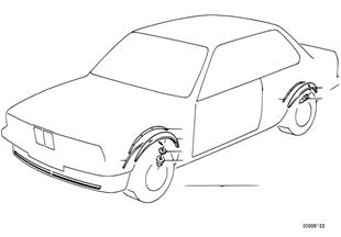車輪切口蓋板 M Technic