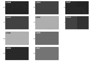 サンプル クッション カラー レザー