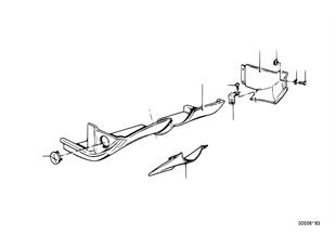 Verkleidung Instrumententafel unten
