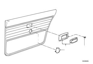 Rear door ashtray