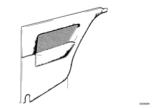 Lateral trim panel rear