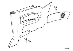 Revestimento lateral traseiro