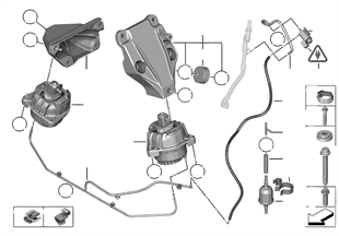 Sospensione del motore