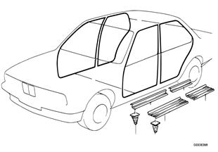 Защитная окантовка/накладки порогов