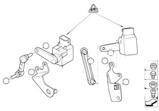 Capteur de reglage rayon d'eclairage