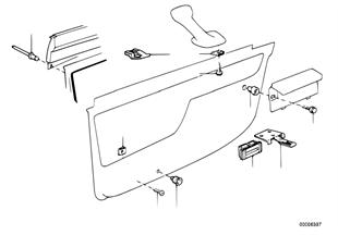 Revestimiento de puerta piezas sueltas