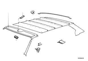 Revest.techo-paramento cielo delantero