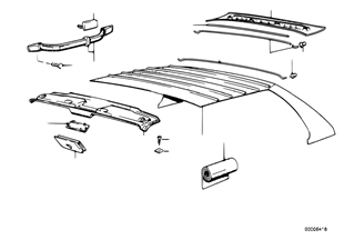 Roof trim-headlining moulded/handle