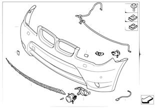 Trim panel, bumper, front aerod.pckage I