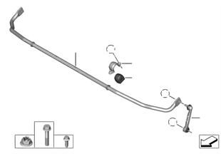 Barra stabilizzatora posteriore