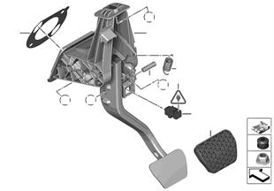 Pedalen automatische versnellingsbak