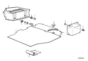 트림 패널,트렁크룸