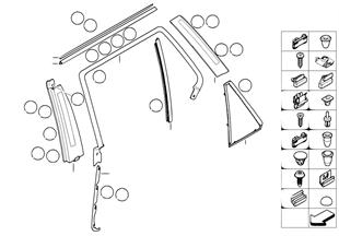 Накладки и уплотнения двери Зд