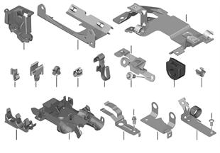 Mazo de cables, piezas adicionales