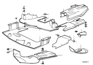 Warmteisolering/avskerming motorruimte
