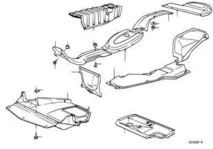Wärmeisolierung/Abschirmung Motorraum