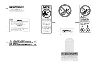 Informační štítek airbag