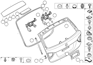 Onderdelen voor kofferdeksel