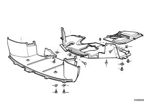 Abschirmung Motorraum/Luftführung