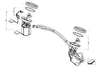 Fuel filter/pump/fuel level sensor