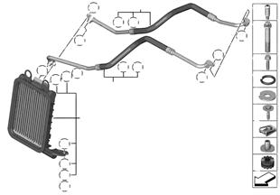 Motor yağ soğ.radyatörü/Yağ rady. hattı