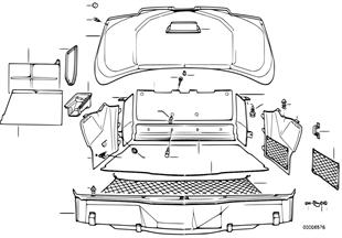 Revestimento do compartimento da mala