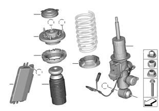 Strut, rear / VDC / control module