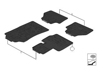 Dywaniki podłogowe uniwersalne