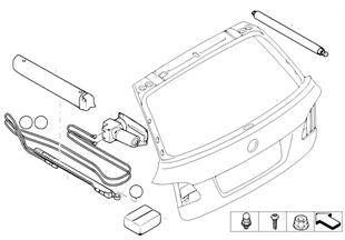 Kofferdeksel/hydraulisch systeem delen
