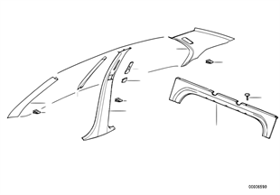 Trim panel A- / B- / C-Column